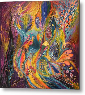 The Purple Rain Metal Print by Elena Kotliarker