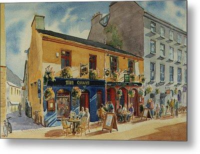 The Quays Pub Galway Metal Print by Tomas OMaoldomhnaigh