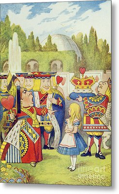 The Queen Has Come And Isnt She Angry Metal Print by John Tenniel