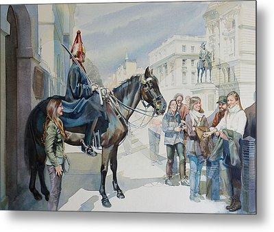 The Queens Horse Guards Metal Print