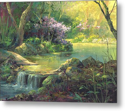 The Quiet Creek Metal Print by Michael Humphries