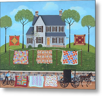 The Quilt Parade Metal Print by Mary Charles