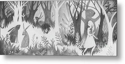 The Rabbit Thief Metal Print by Kate Cosgrove