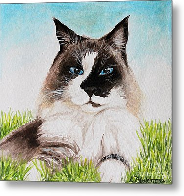 Metal Print featuring the painting The Ragdoll by Elizabeth Robinette Tyndall