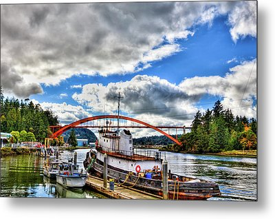 The Rainbow Bridge - Laconner Washington Metal Print by David Patterson
