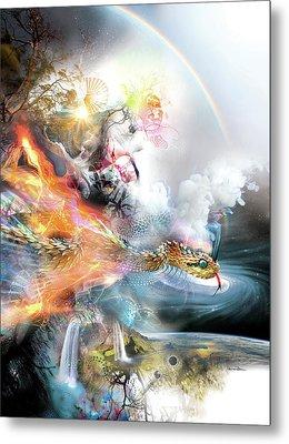 The Rainbow Serpent Metal Print