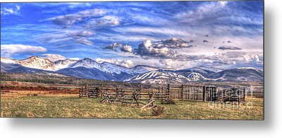 The Ranch Pano Metal Print by Scott Mahon