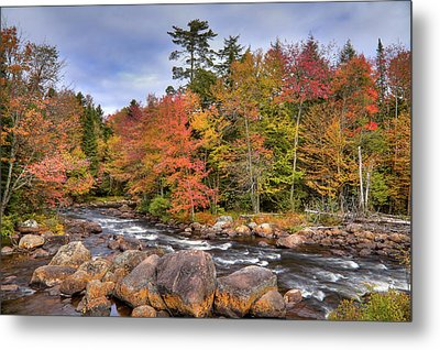 Metal Print featuring the photograph The Rapids On The Moose River by David Patterson
