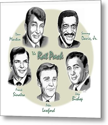 The Rat Pack Metal Print by Greg Joens