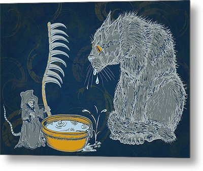 The Rat Reaper Metal Print by Laura Brightwood