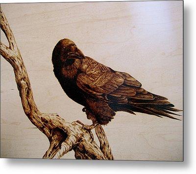 The Raven Metal Print by Adam Owen