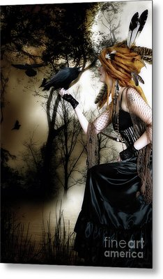 The Raven Metal Print by Shanina Conway