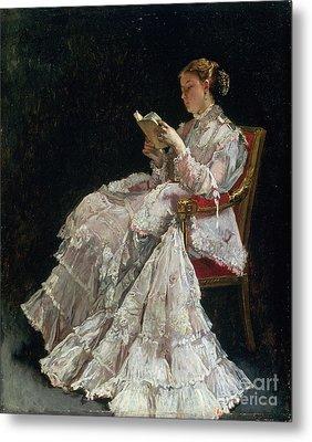 The Reader Metal Print by Alfred Emile Stevens