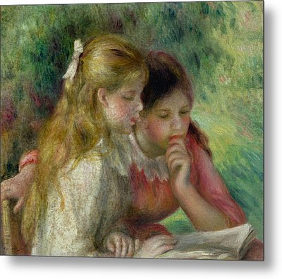 The Reading Metal Print by Pierre Auguste Renoir