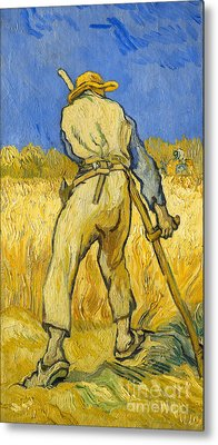 The Reaper Metal Print by Vincent van Gogh