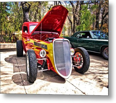 Red And Yellow Ford Terror Metal Print
