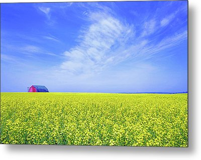 Metal Print featuring the photograph The Red Barn by Keith Armstrong