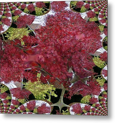 The Red Bushes Metal Print