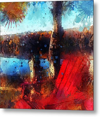 Metal Print featuring the photograph The Red Chair by Claire Bull