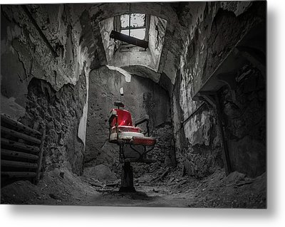 The Red Chair Metal Print by Kristopher Schoenleber