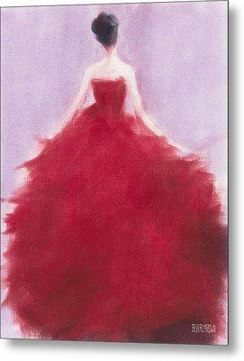 The Red Evening Dress Metal Print