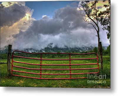 Metal Print featuring the photograph The Red Gate by Douglas Stucky