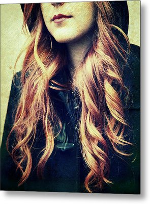 The Red-haired Girl Metal Print