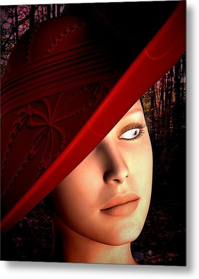The Red Hat Metal Print