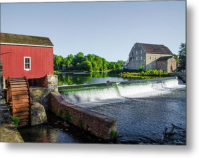 The Red Mill  On The Raritan River - Clinton New Jersey  Metal Print by Bill Cannon