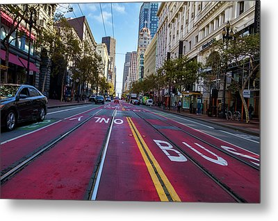 Metal Print featuring the photograph The Red Path by Darcy Michaelchuk