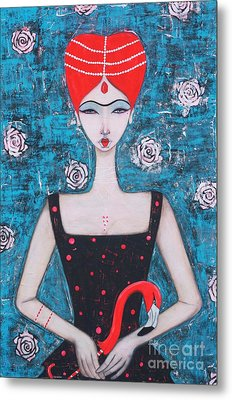 The Red Queen Metal Print by Natalie Briney