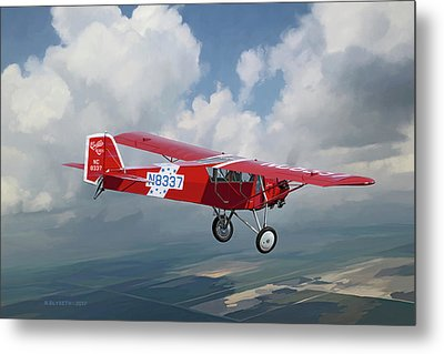 The Red Red Robin Metal Print