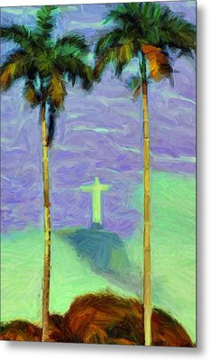 The Redeemer Metal Print by Caito Junqueira