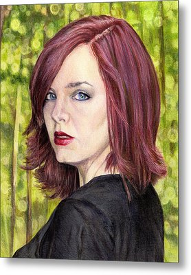 The Redhead  Metal Print by Shana Rowe Jackson
