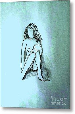 The Relaxing Woman - Cool Breeze Metal Print