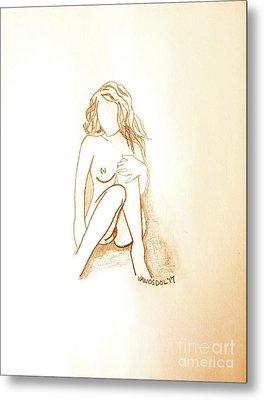 The Relaxing Woman - Morning Glow Metal Print
