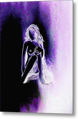 The Relaxing Woman - Purple Ecstasy  Metal Print