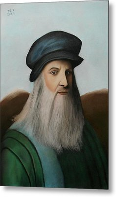 The Master Of Renaissance - Leonardo Da Vinci  Metal Print