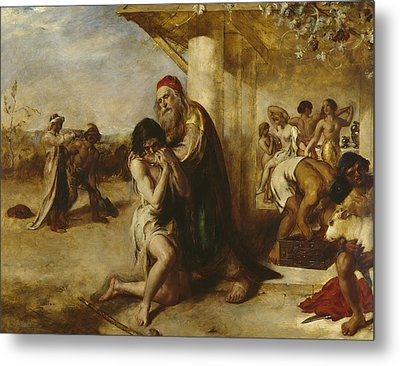 The Repentant Prodigal's Return To His Father Metal Print by William Etty