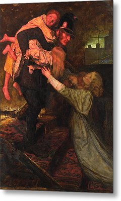 The Rescue Metal Print by John Everett Millais