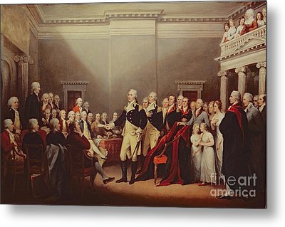 The Resignation Of George Washington Metal Print by John Trumbull