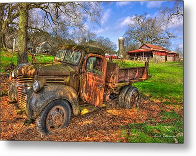 The Resting Place 2 Boswell Farm 1947 Dodge Dump Truck Metal Print by Reid Callaway