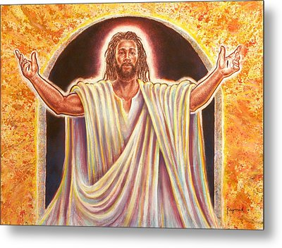 The Resurrection And The Life Metal Print by Raymond Walker