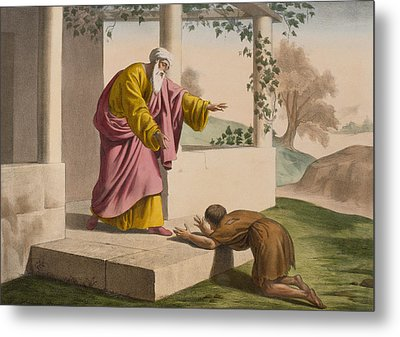 The Return Of The Prodigal Son Metal Print by French School