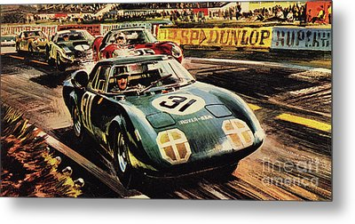 The Revolutionary Rover Brm At The Famous Le Mans Racing Track In 1963 Metal Print by Wilf Hardy