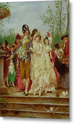 The Revolutionist's Bride, Paris, 1799 Metal Print by Frederik Hendrik Kaemmerer