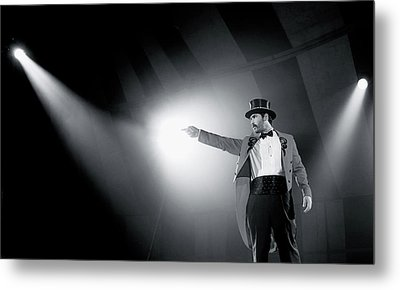 The Ringmaster Metal Print by Glennis Siverson