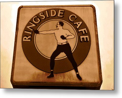 The Ringside Cafe Metal Print by David Lee Thompson