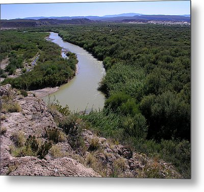 The Rio Grande River Metal Print by Karen Musick