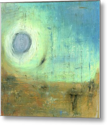 Metal Print featuring the painting The Rising Sun by Michal Mitak Mahgerefteh